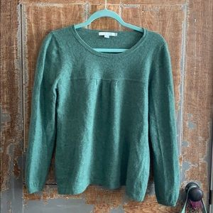 Boden cashmere green sweater size 12